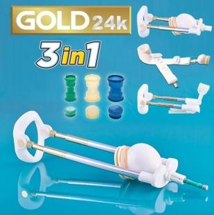 Лучший вакуумный экстендер Penismaster Gold Premium 3 в 1 с оригинальными мембранами и шлюзами